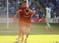 James Milner of Liverpool celebrates his goal after making it 0-2- Mandatory by-line: Nizaam Jones/JMP - 21/04/2019 -  FOOTBALL - Cardiff City Stadium - Cardiff, Wales -  Cardiff City v Liverpool - Premier League