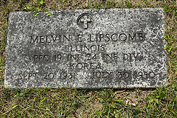 31 August 2017:   Veterans graves in Park Hill Cemetery in eastern McLean County.<br /> <br /> Melvin E Lipscomb Illinois Private First Class INF 24 INF DIV Korea Sept 20 1931  July 30 1950