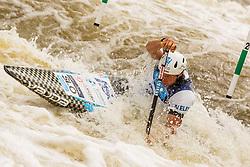 Benjamin Savsek (SLO) competes in Semi-Finals during Day 3 of 2018 ECA Kayak - Canoe Slalom European Championships, on June 3rd, 2018 in Troja , Prague, Czech Republic. Photo by Grega Valancic / Sportida