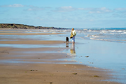 Hornsea Beach North Yorkshire Coast. Summer Holiday makers and dog walkers take advantage of the heat wave before the start of the School holidays <br /> <br />    03 June 2018 <br />   Copyright Paul David Drabble<br />   www.pauldaviddrabble.co.uk