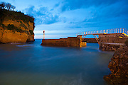 Long exposure of the evening tide at the Port des pecheurs, Biarritz, Basque Country, France