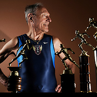 """John Keston, 85, says he'll keep setting records: """"I don't feel any less fit than I did 30 to 40 years ago."""" Keston has been ranked among the world's top age-group runners since he was 65, and in 2001 was inducted into the USA Track and Field Masters Hall of Fame."""
