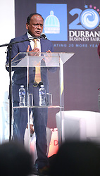 19092018 (Durban) Executive Chairman of Edison Power Group Vivian Reddy talking about the art of running a profittable and sustainable business with the delegates at this year's Durban Business Fair celebrates 20 years of hardwork, business excellene and success held at the Durban ICC.<br /> Picture: Motshwari Mofokeng/African News Agency (ANA)