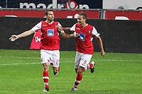20111103 Braga: SC Braga vs. NK Maribor, UEFA Europa League, Group H, 4th round. In picture: Paulo Vinicius scores for Braga. Photo: Pedro Benavente/Cityfiles