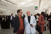 JONATHAN YEO ; STEVE LAZARIDES, The VIP preview of Frieze. Regent's Park. London. 16 October 2013