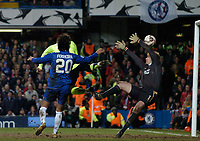 Photo: Richard Lane.<br />Chelsea v Barcelona. UEFA Champions League. 22/02/2006.<br />Barcelona's Samuel Eto'o Scores their 2nd goal.