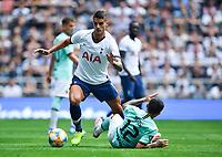 Football - 2019 (ICC) International Champions Cup (pre-season friendly) - Tottenham Hotspur vs. Inter Milan<br /> <br /> Tottenham Hotspur's Erik Lamela evades the tackle of Inter Milan's Stefano Sensi, at Tottenham Hotspur Stadium.<br /> <br /> COLORSPORT/ASHLEY WESTERN