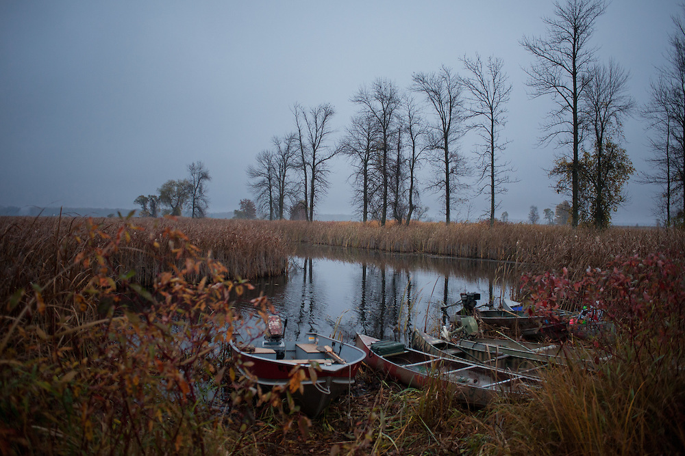 Duck Camp Sunday, Oct. 21, 2012, in Au Gres, Michigan.<br /> Photo by Scott Morgan 2012