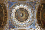 Great Dome of Saint Isaac's Cathedral, Built from 1818 to 1858. Under the Soviet government, the building was abandoned, then turned into a museum of atheism. Saint Petersburg, Russia, 2007