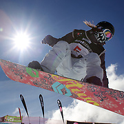 Kazuumi Fujita, Japan, in action during the Men's Half Pipe Finals in the LG Snowboard FIS World Cup, during the Winter Games at Cardrona, Wanaka, New Zealand, 28th August 2011. Photo Tim Clayton