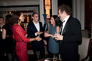 ANDREA DELLAL; ALEX DELLAL; ROSEY CHAN; MIKE FIGGIS, Ella Krasner and Pablo Ganguli host a Liberatum dinner in honour of Sir V.S.Naipaul. The Landau at the Langham. London. 23 November 2010. -DO NOT ARCHIVE-© Copyright Photograph by Dafydd Jones. 248 Clapham Rd. London SW9 0PZ. Tel 0207 820 0771. www.dafjones.com.