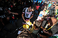 Tom Dumoulin (NED - Team Sunweb) signing autograph after the finish of stage during the 105th Tour de France 2018, Stage 15, Millau - Carcassonne (181,5 km) on July 22th, 2018 - Photo George Deswijzen / Pro Shots / ProSportsImages / DPPI
