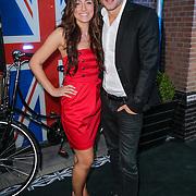 NLD/Amsterdam/20120905- Opening Thimothy Oulton shop Amsterdam, Dirk Taat en partner Maria