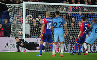 Football - 2016 / 2017 FA Cup - Fourth Round: Crystal Palace vs. Manchester City<br /> <br /> Palace goalkeeper Wayne Hennessey is beaten by Yaya Toure's free kick  for Man City's 3rd goal at Selhurst Park.<br /> <br /> COLORSPORT/ANDREW COWIE