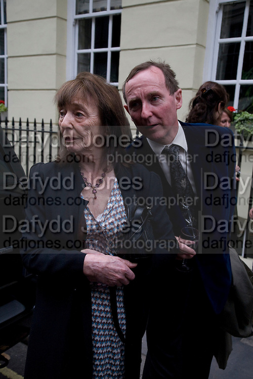 BERYL BAINBRIDGE AND A.N. WILSON, Matthew Carr: New Work. Marlborough Gallery. Albermarle St. London. 24 June 2008.  *** Local Caption *** -DO NOT ARCHIVE-© Copyright Photograph by Dafydd Jones. 248 Clapham Rd. London SW9 0PZ. Tel 0207 820 0771. www.dafjones.com.