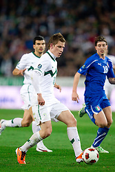 Valter Birsa of SLovenia during EURO 2012 Quaifications game between National teams of Slovenia and Italy, on March 25, 2011, SRC Stozice, Ljubljana, Slovenia. Italy defeated Slovenia 1-0.  (Photo by Vid Ponikvar / Sportida)
