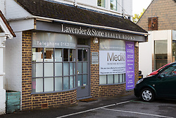 The Lavender & Stone premises in Bourne end where terminal cancer patient XXXX was refused treatment. Bourne End, Buckinghamshire, October 07 2018.