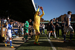 Sam Slocombe of Bristol Rovers applauds the fans as the team walk out - Mandatory by-line: Richard Calver/JMP - 05/05/2018 - FOOTBALL - Roots Hall - Southend-on-Sea, England - Southend United v Bristol Rovers - Sky Bet League One