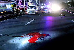November 15, 2016 - Philippines - (EDITOR'S NOTE: Image contains graphic content) The crime scene of another summary executions at Rizal St., in Pasay City. (Credit Image: © Gregorio B. Dantes Jr/Pacific Press via ZUMA Wire)