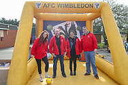 AFC Wimbledon openalty shoot out during the EFL Sky Bet League 1 match between AFC Wimbledon and Doncaster Rovers at the Cherry Red Records Stadium, Kingston, England on 9 March 2019.