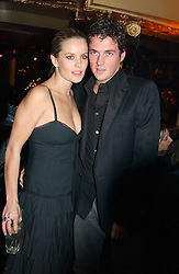 Actress DAVINIA TAYLOR and her husband DAVE GARDNER at a party and fashion show by Agent Provocateur at the Cafe de Paris, Coventry Street, London W1 on 14th February 2005.<br /><br />NON EXCLUSIVE - WORLD RIGHTS