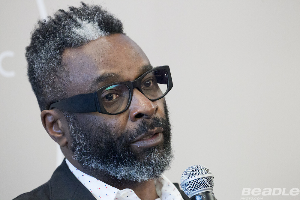 Emeka Okafor, Founder<br /> Maker Faire Africa at the World Economic Forum on Africa 2017 in Durban, South Africa. Copyright by World Economic Forum / Greg Beadle