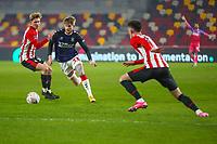 Football - 2020 /2021 Emirates FA Cup - Third Round: Brentford vs. Middlesbrough <br />  -  Brentford Community Stadium<br /> <br /> Hayden Coulson (Middlesbrough) breaks towards the Brentford goal <br /> <br /> COLORSPORT/DANIEL BEARHAM