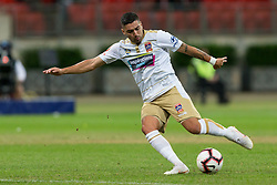 November 23, 2018 - Sydney, NSW, U.S. - SYDNEY - NOVEMBER 23: Newcastle Jets forward Dimitri Petratos (7) shoots at goal at the Hyundai A-League Round 5 soccer match between Western Sydney Wanderers FC and Newcastle Jets on November 23, 2018, at Spotless Stadium in Sydney, NSW. (Photo by Speed Media/Icon Sportswire) (Credit Image: © Speed Media/Icon SMI via ZUMA Press)