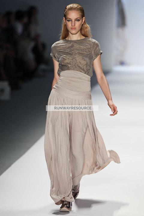 Naomi Preizler walks the runway wearing Richard Chai Spring 2011 Collection during Mercedes Benz Fashion Week in New York on September 9, 2010