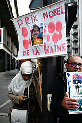September 11, 2017 - Paris, France - People gathered to protest and support the Rohingyas community in Paris, France, on September 11, 2017 against the genocide in Myanmar. The UN human rights chief on September 11 slammed Myanmar's apparent 'systematic attack' on the Rohingya minority in Myanmar, warning that 'ethnic cleansing' seemed to be underway. (Credit Image: © Julien Mattia/NurPhoto via ZUMA Press)