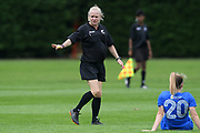 Match referee Wendy McNeely in the National womens league football match, Central Football v Southern United, Massey University, Palmerston North, Sunday, December 02, 2018. Copyright photo: Kerry Marshall / www.photosport.nz