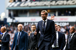 Peter Crouch looks on as Tottenham Hotspur put on a farewell show with former and current players after the final game at White Hart Lane before it's closure for demolition and redevelopment - Rogan Thomson/JMP - 14/05/2017 - FOOTBALL - White Hart Lane - London, England - Tottenham Hotspur v Manchester United - Premier League.