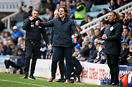 Wycombe manager Gareth Ainsworth shouts out orders during the EFL Sky Bet League 1 match between Peterborough United and Wycombe Wanderers at London Road, Peterborough, England on 2 March 2019.