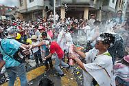 "Harmless furious battles with the spray ""carioca"", practically  shaving soap"