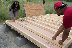 Building micro houses with Rightn Now Today at Camp Second Chance, Seattle Washington