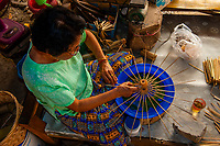 Umbrella making, Chiang Mai, Northern Thailand