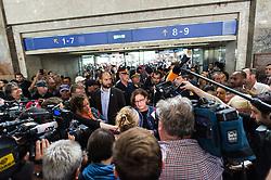 05.09.2015, Westbahnhof, Wien, AUT, Flüchtlinge warten auf Züge für eine Weiterreise nach Deutschland, im Bild Bundesministerin für Inneres Johanna Mikl-Leitner (ÖVP) // Minister of the Interior Johanna Mikl-Leitner (OeVP) at Trainstation Westbahnhof in vienna, austria on 2015/09/05, EXPA Pictures © 2015, PhotoCredit: EXPA/ Michael Gruber
