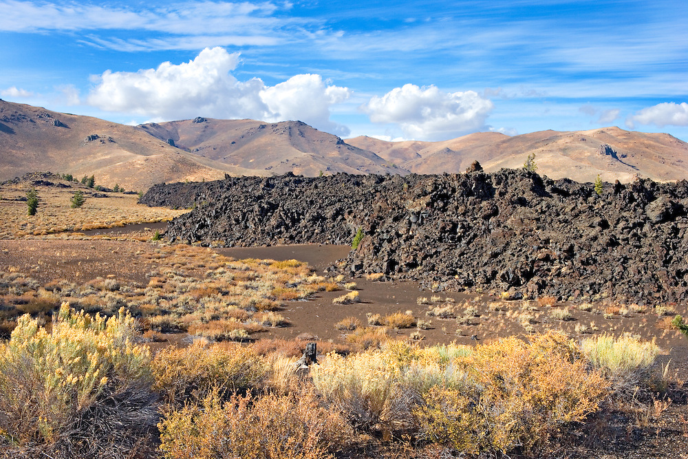 Autumn Colors and Volcanic Flow in Craters of the Moon National Monument, Idaho