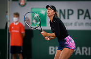 Oceane Dodin of France in action during the first round at the Roland Garros 2020, Grand Slam tennis tournament, on September 28, 2020 at Roland Garros stadium in Paris, France - Photo Rob Prange / Spain ProSportsImages / DPPI / ProSportsImages / DPPI