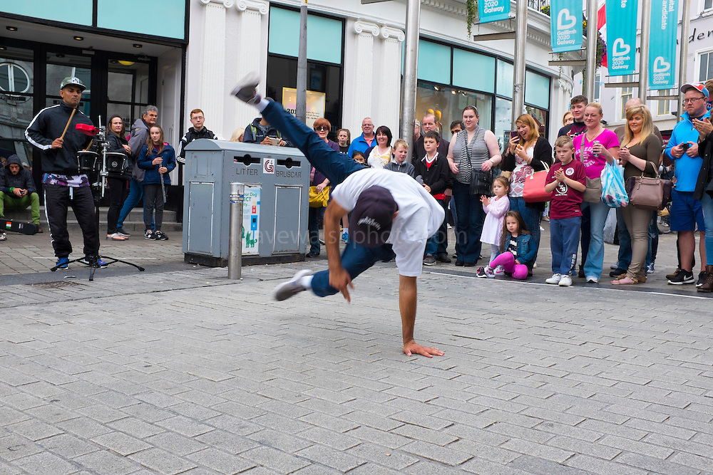 Breakdancers on Shop Street, Galway City, Ireland