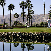 Palm Springs, CA, March 29, 2007: Golfers play at the Mission Hills Country Club on the Dinah Shore Course during the LPGA Kraft Nabisco championship on March 29, 2007. (Photo by Todd Bigelow/Aurora)
