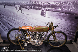 Freddie Dixon's 1923 8-valve racer, that easily exceeded 100 mph speeds back in the day, on display at the Harley-Davidson Museum during the Milwaukee Rally. Milwaukee, WI, USA. Saturday, September 3, 2016. Photography ©2016 Michael Lichter.
