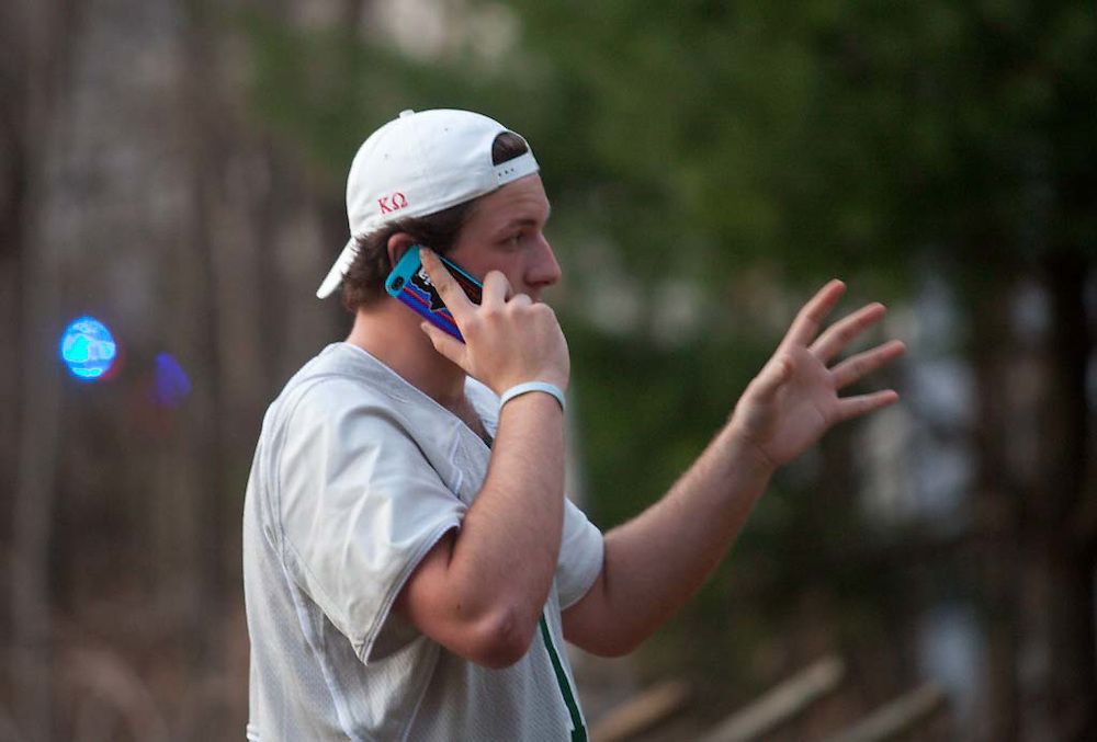 Milton, MA 03/21/2012.Curry College sophomore Peter Maxwell said he saw the smoke from school and called 911 to report the fire..Alex Jones / For The Patriot Ledger