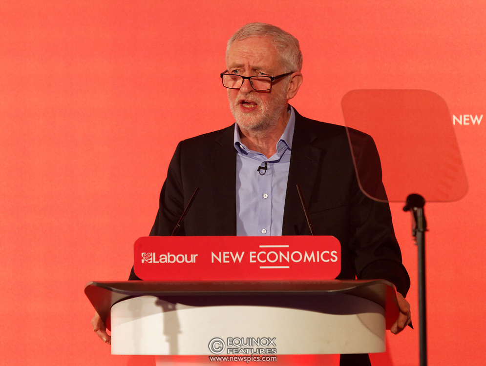 London, United Kingdom - 10 February 2018<br /> Leader of the Labour Party Jeremy Corbyn, speaking at the Labour Party's Alternative Models of Ownership Conference where he spoke about new 21st century forms of democratic ownership of industries.<br /> www.newspics.com/#!/contact<br /> (photo by: EQUINOXFEATURES.COM)<br /> Picture Data:<br /> Photographer: Equinox Features<br /> Copyright: ©2018 Equinox Licensing Ltd. +448700 780000<br /> Contact: Equinox Features<br /> Date Taken: 20180210<br /> Time Taken: 15572480