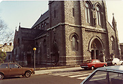 Old amateur photos of Dublin streets churches, cars, lanes, roads, shops schools, hospitals, Streetscape views are hard to come by while the quality is not always the best in this collection they do capture Dublin streets not often available and have seen a lot of change since photos were taken Berkley Rd Church, Matter Hospital, Nassau St, Stephens Hospital, Nurses Home, Huston Station, Kingsbridge, January 1984