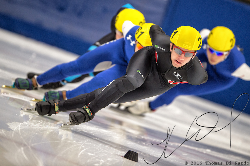 March 20, 2016 - Verona, WI - Michael Koenig, skater number 271 competes in US Speedskating Short Track Age Group Nationals and AmCup Final held at the Verona Ice Arena.