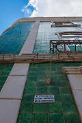 Green tiled building, Praça Luís de Camões, Lagos, Algarve, Portugal
