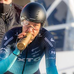11-03-2021: Wielrennen: Healthy Ageing Tour: Lauwersoog. <br />Mylene de Zoete
