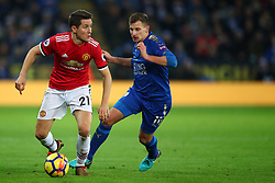 23 December 2017 -  Premier League - Leicester City v Manchester United - Ander Herrera of Manchester United in action with Marc Albrighton of Leicester City - Photo: Marc Atkins/Offside