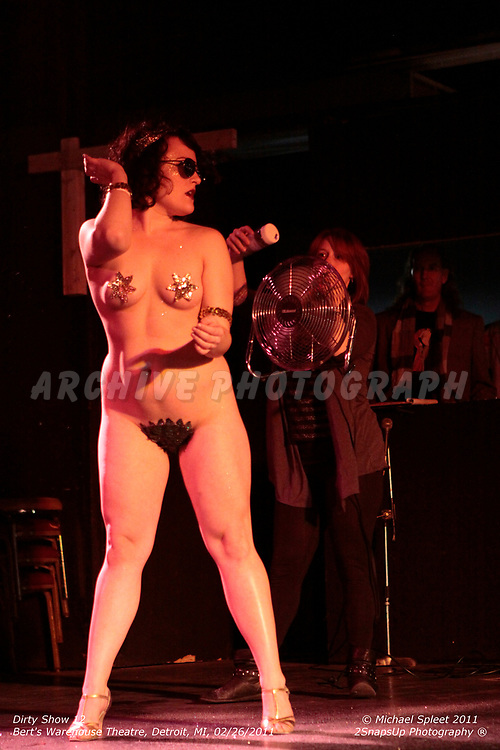 DETROIT, MI, SUNDAY, FEB. 27, 2011: Dirty Show 12, Tila Von Twirl at Bert's Warehouse Theatre, Detroit, MI, 02/27/2011.  (Image Credit: Michael Spleet / 2SnapsUp Photography)